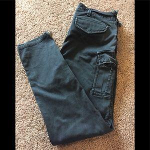 Bcbg Maxazria black cargo jeans